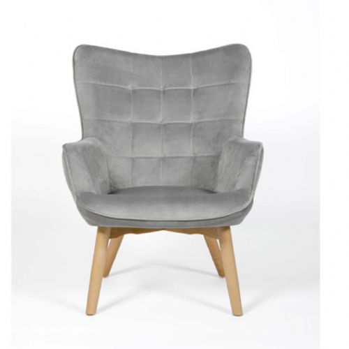 Home Essential AED 123 Plush Grey  Accent Chair